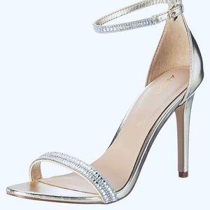 Rhinestone Silver Sandals
